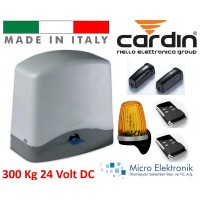 Cardin 300 Kg Hızlı Kapı Motoru Seti 24 Volt İtalyan Bahçe Kapısı Motoru