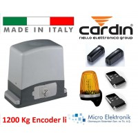 Cardin 1200 Kg İtalyan Kapı Motoru Seti 220Volt Bahçe Kapı Motoru